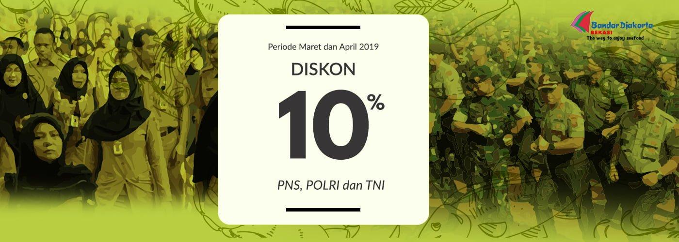 Diskon 10% PNS, TNI , POLRI