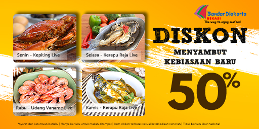 50% DISKON HARIAN NEW NORMAL