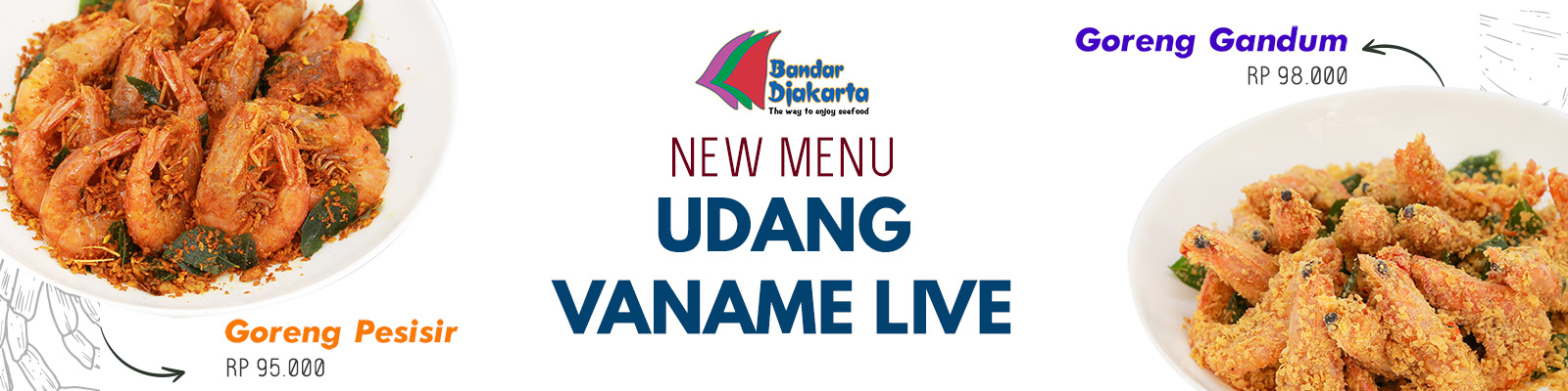 New Menu Shrimp Vaname Live !